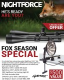NIGHTFORCE SHV 5-20x56 Fox Package